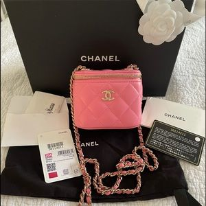 NEW Chanel Trendy Classic Vanity Pink Gold 20A